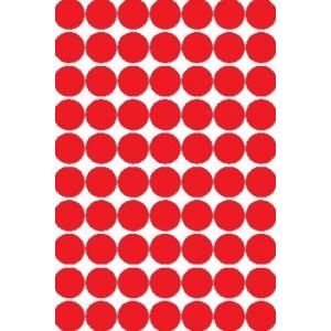 Etiket Rund Ø13 Mm Rød