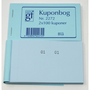 Kupon Bøger Blå