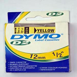 61214-Dymo D2 - 6-9000 Tape - 12Mm - Gul