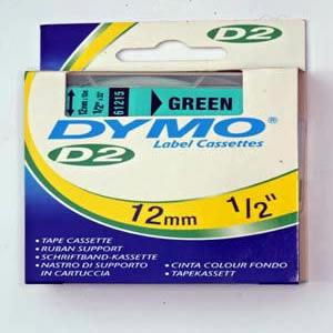 61215Dymo D2 - 6-9000 Tape - 12Mm - Grøn
