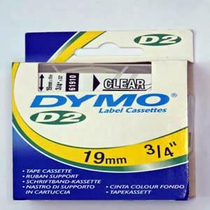 61910-Dymo D2 6-9000 Tape - 19Mm - Klar