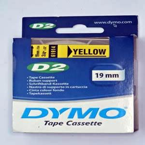 61914-Dymo D2 6-9000 Tape - 19Mm - Gul