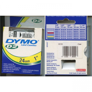 69240-Dymo D2 -9000 Tape - 24Mm - Klar