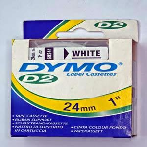 69241 Dymo D2 9000 Tape - 24Mm - Hvid