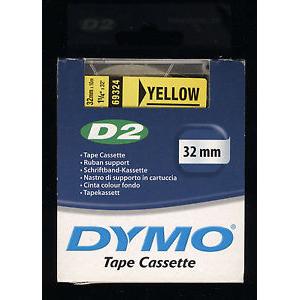 69324 Dymo D2 9000 Tape - 32Mm - Gul