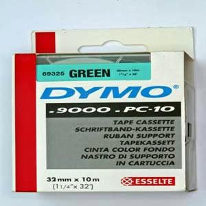 69325-Dymo D2 9000 Tape - 32Mm - Grøn