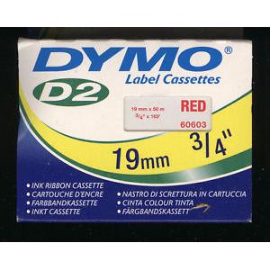 60603-Dymo Farvebånd - 19Mm - Rød