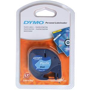 91225-Dymo Letratag Plasttape P. - Blå