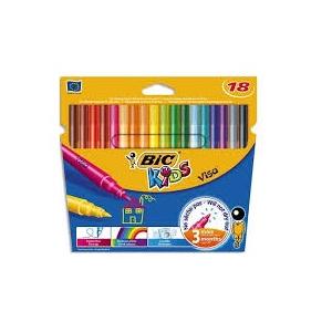 Bic Kids Visacolor Filt Pen 18 Stk