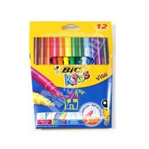 Bic Kids Visacolor Filt Pen 12 Stk