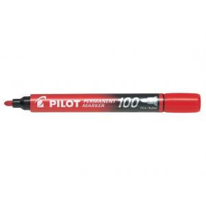 Pilot Marker 100 Rød Rund Spids