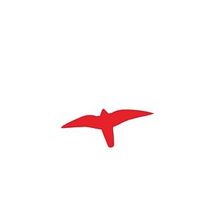 Fugleskræmmer - Rød 19,5 X 25 Cm
