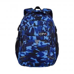 Taske - Zipit 21 - Blue Camo - 46X25X30 Cm 32L