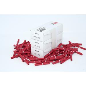 Tombolanumre 1-300 - Rød