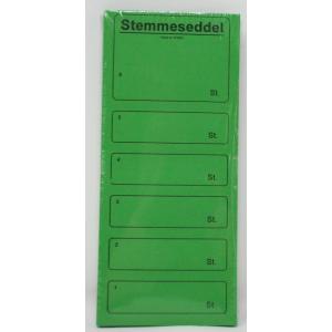 Stemmesedler 100 Stk. - Grøn