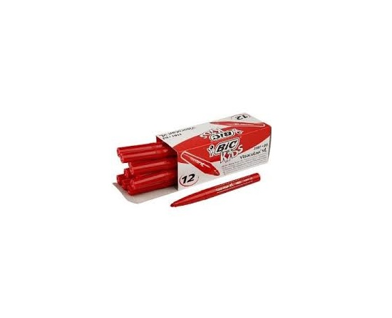 Bic Kids Visacolor Filt Pen Rød 12 Stk