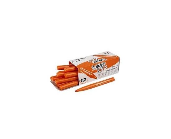 Bic Kids Visacolor Filt Pen Orange 12Stk