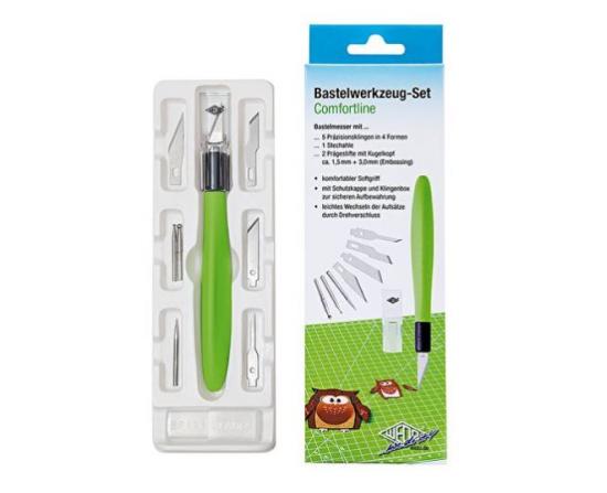 Hobbyknivsæt Med 6 Blade (Grøn)