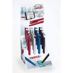 Touch Pen - 3 I 1 Kuglepen - 14,7 Cm