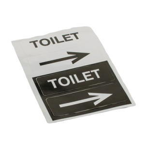 Pictogram Toilet Med Retningspil