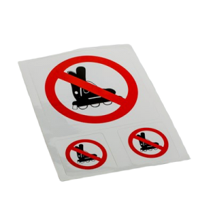 Pictogram Rulleskøjter Forbudt