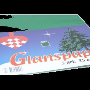 Glanspapir 5 Ark 35X50 Cm Grøn