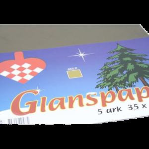Glanspapir 5 Ark 35X50 Cm Guld