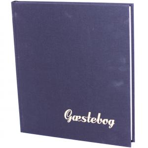 Gæstebog Lærred M/Tryk - 23X25 Cm Sort