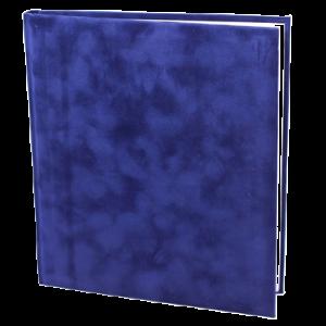 Gæstebog Velour Blå U/Tryk - 23X25 Cm