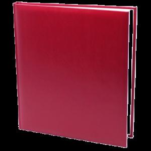 Gæstebog Rødbrun Balacro M. U/Tryk - 23X25 Cm