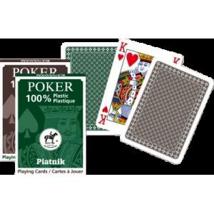 Spillekort - 100% Plastik Poker 55 Blade