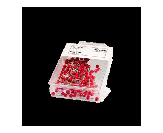Kortnåle / Map Pins Røde Ca. 100 Stk.