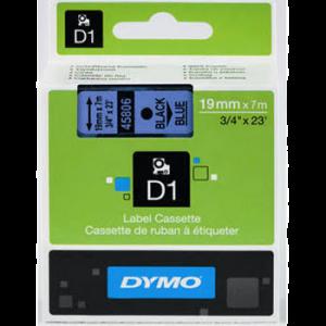 Dymo D1 Tape - 19Mm - Sort/Blå