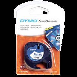 91221-Dymo Letratag Plasttape P. - Hvid