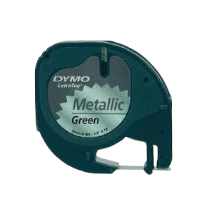91229-Dymo Letratag Metallictape - Grøn