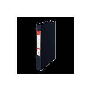 Ringordner A4 4R M / Etiket Sort