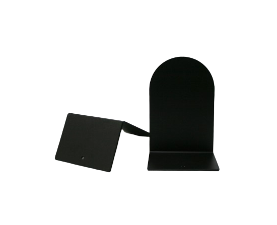 Bogstøtter 15 Cm. Metal Sort 2 Stk - Danblok