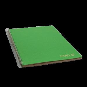 Udklip Folio-Grå Blade/Ass Omslag -24,3 X 34,2Cm