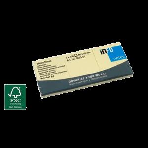 Sticky Notes Gule (3 Stk) 50 X 40 Mm 100 Blade