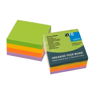 Sticky Notes Cube Mix 75X75 Mm 400 Blade