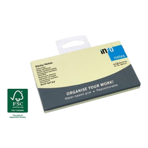 Sticky Notes Gule 125 X 75 Mm 100 Blade