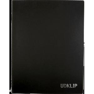 Udklip Folio-Grå Blade/Sort Omslag -24,3 X 34,2Cm