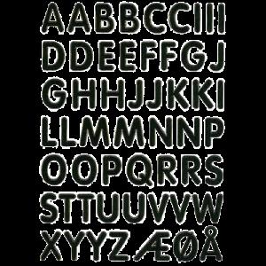 Stickers Guld Bogstaver