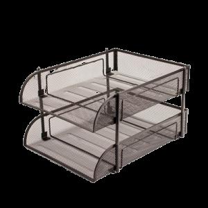 Brevbakke I Metal Tråd Silver M/2 Bakker