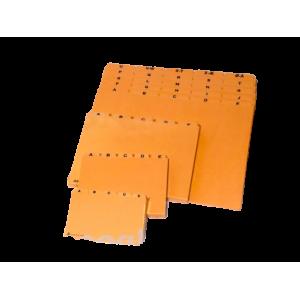 Kartoteksalfabet Dkf -  A4, 25-Delt Gul