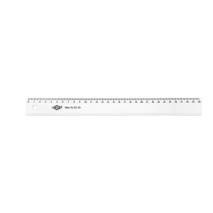 Lineal 30 Cm  Crystal Clear