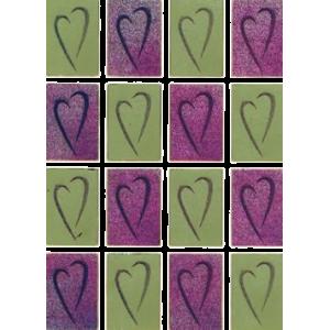 Stickers Hjerter Guld / Rosa