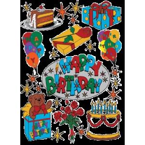 Stickers Happy Birthday Kager / Gaver