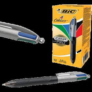 Bic 4 Colours Grip Pro 12 Stk. (Skaffevare)