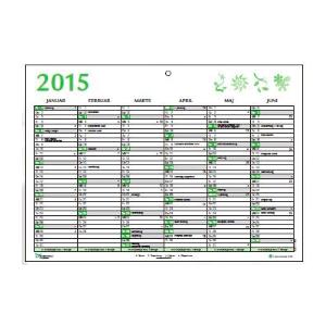 A5 Vægkalender 2020 - Blå